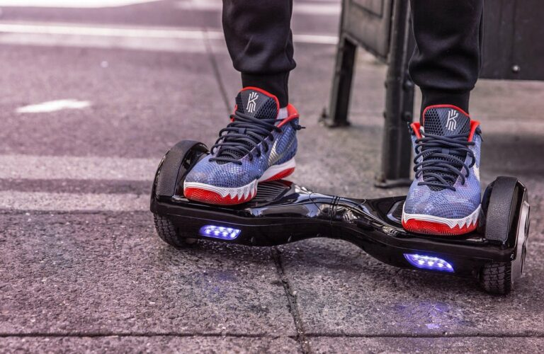 hoverboard used outdoors