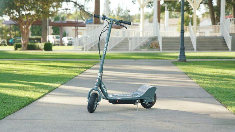 Razor E300 Electric Scooter - in a park