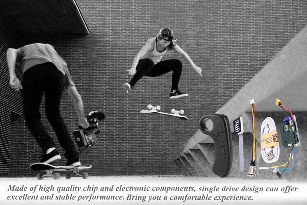 Focket Electric Longboard Skateboard ESC Kit installed on skateboard