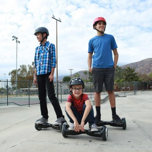 Kids using the Swagtron T5