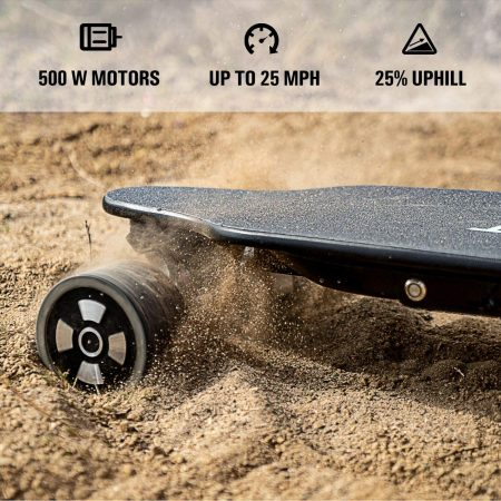 SKATEBOLT Tornado II Electric Skateboard with Remote Controller - close up