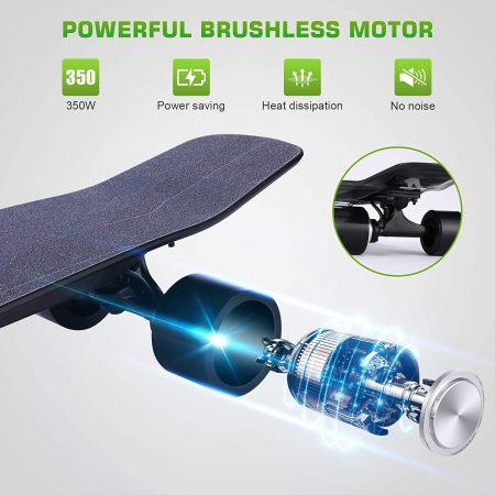 Vivi H2S-2 Electric Skateboard - close up
