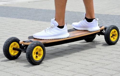 person on an electric skateboard