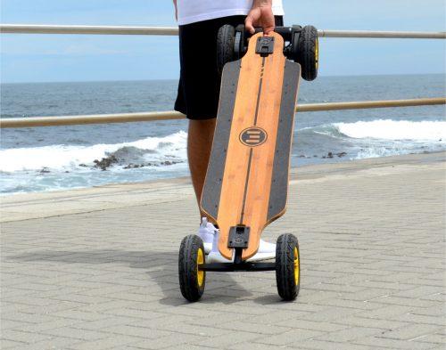 using an electric skateboard